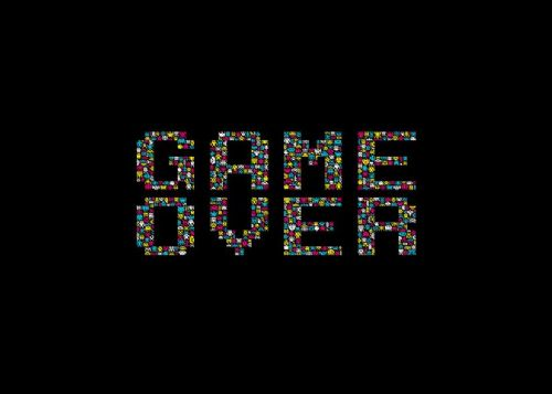 GAMES - GAME OVER 1 canvas print - self adhesive poster - photo print